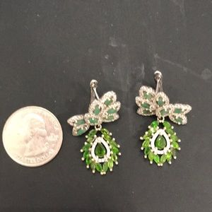 Real Emerald & Chrome Diopside Earrings